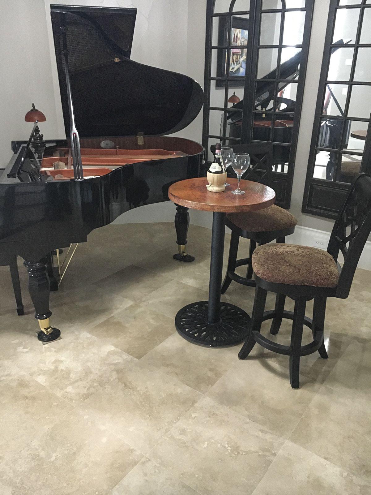 E20 Black Table Base