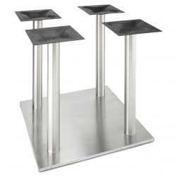 "RSQ750X4 Stainless Steel Table Base - Counter Height (34 3/4"")"