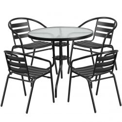 Round Glass Patio Set