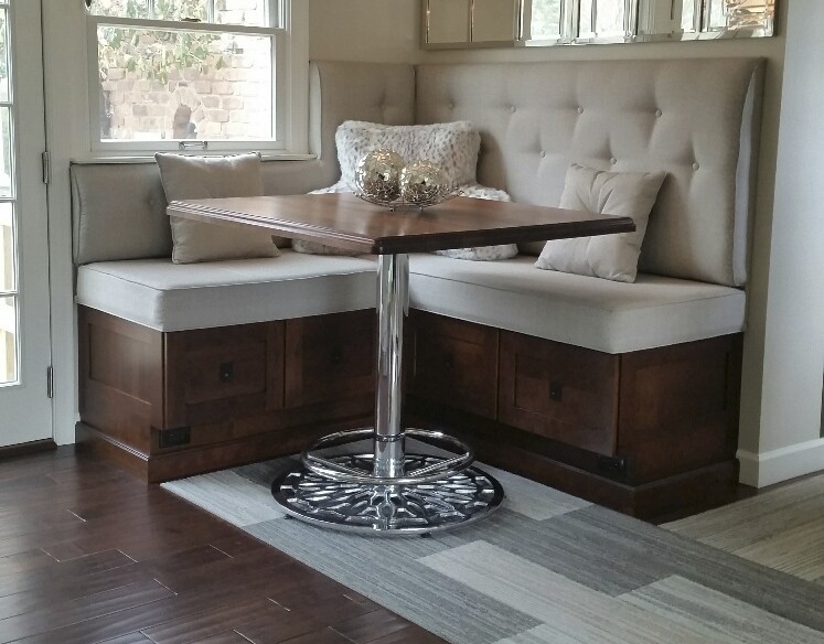 Chrome Table Base in Breakfast Nook