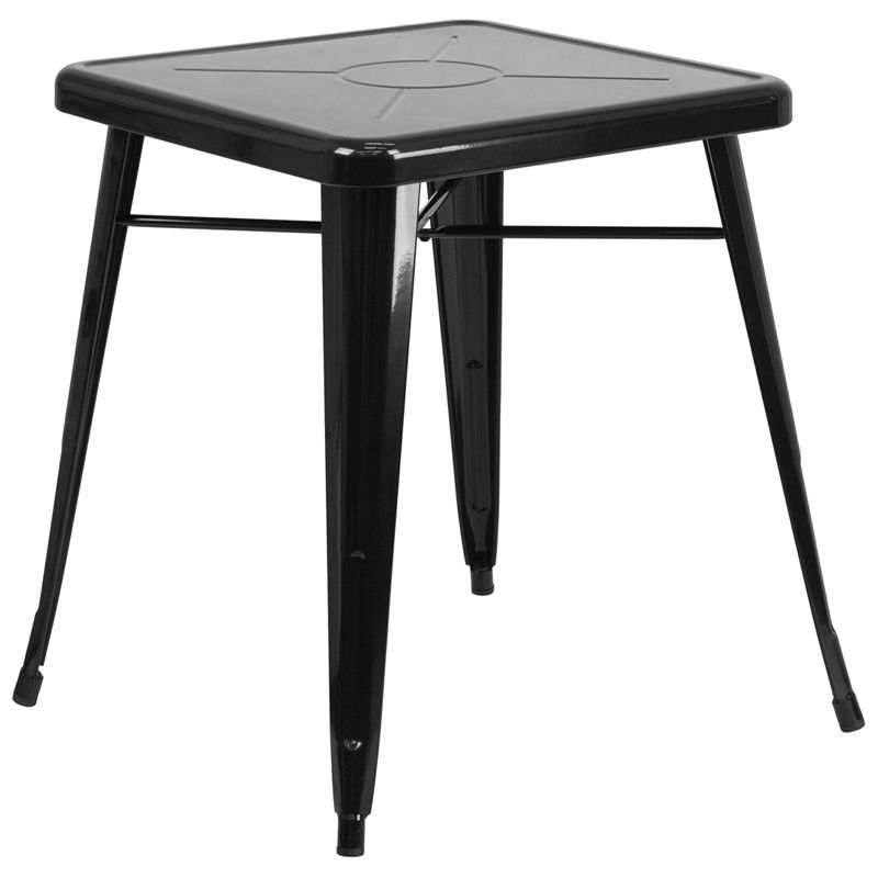 """24"""" Square Metal Cafe Table"""