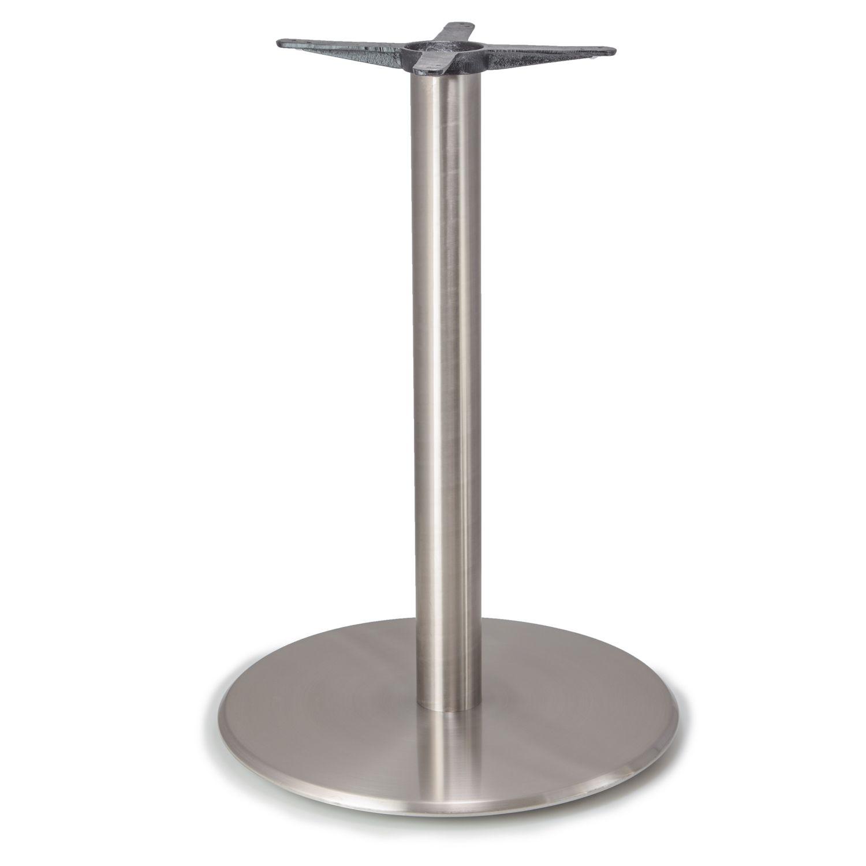 """Argent-28 Satin Chrome Table Base - Bar Height (41"""")"""