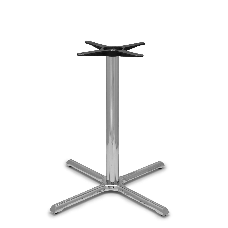 "B36 Chrome Table Base - 3"" Diameter Column - Counter Height (34 3/4"")"