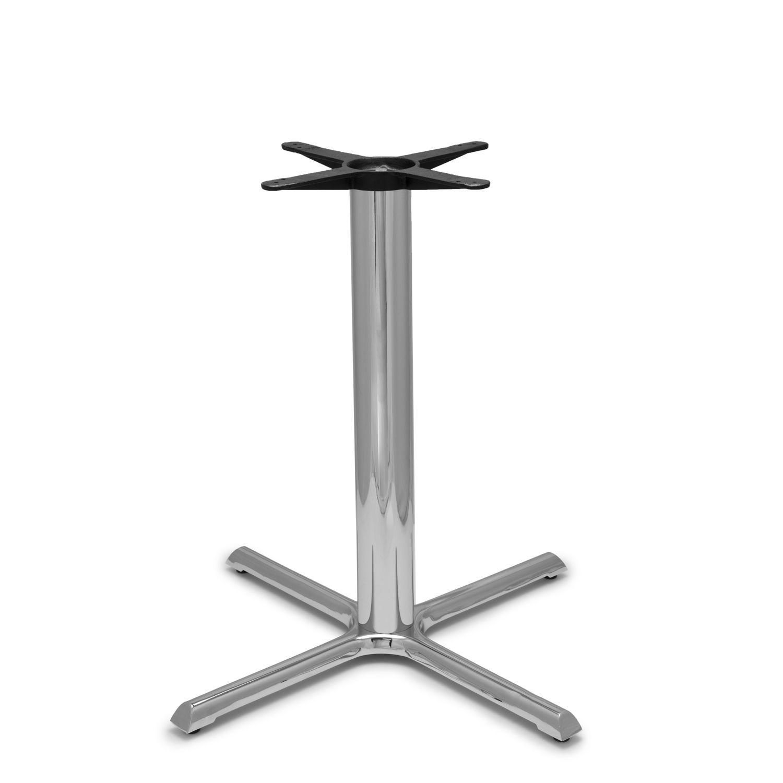 "B36 Chrome Table Base - 4"" Diameter Column - Counter Height (34 3/4"")"