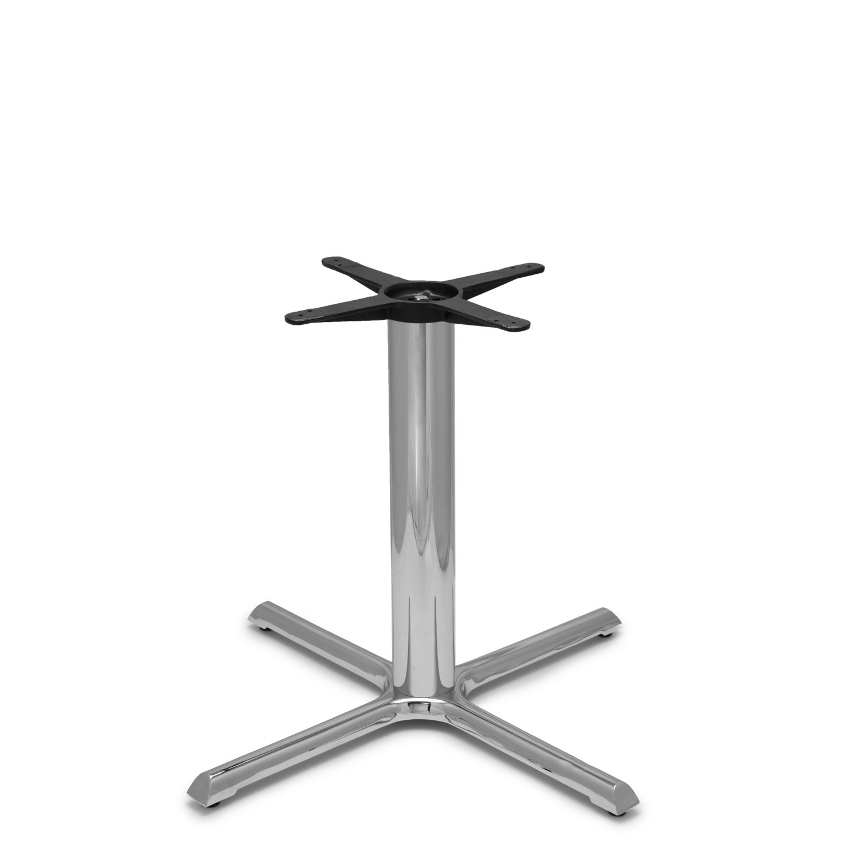 "B36 Chrome Table Base - 4"" Diameter Column - Dining Height (28"")"