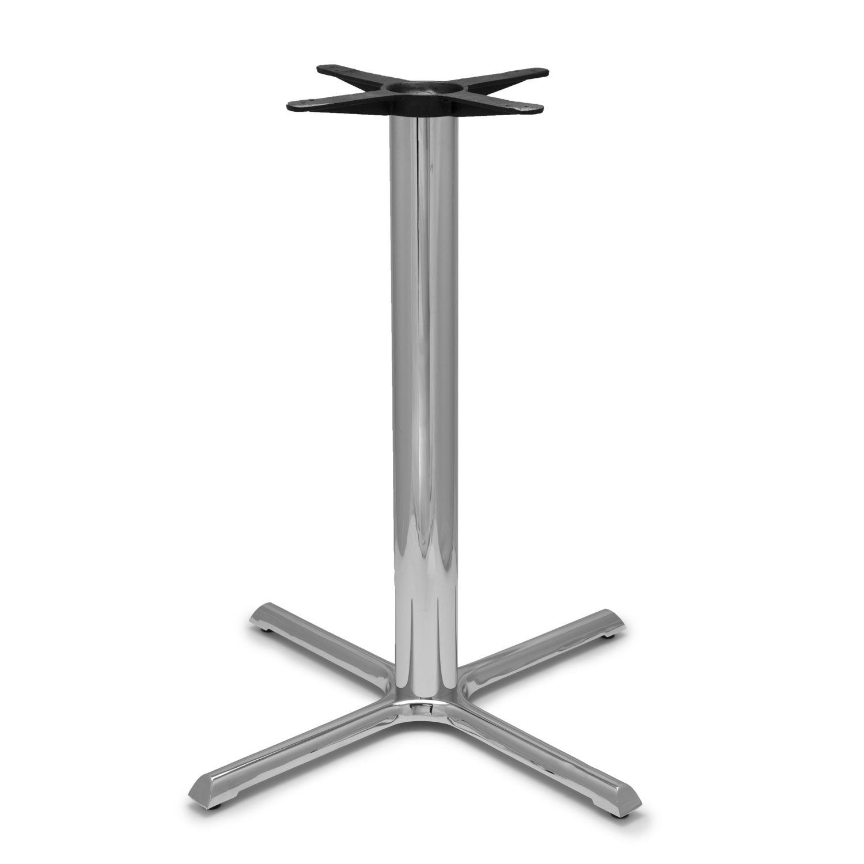 "B36 Chrome Table Base - 4"" Diameter Column - Bar Height (41"")"