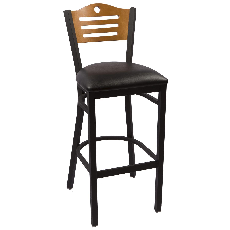 Hudon Chair Cherry - Black Vinyl Seat