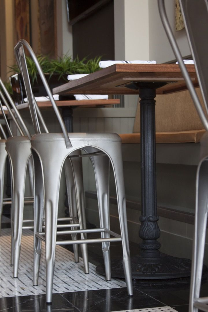 K24 Matte Black Table Base at Alvarado St. Brewery