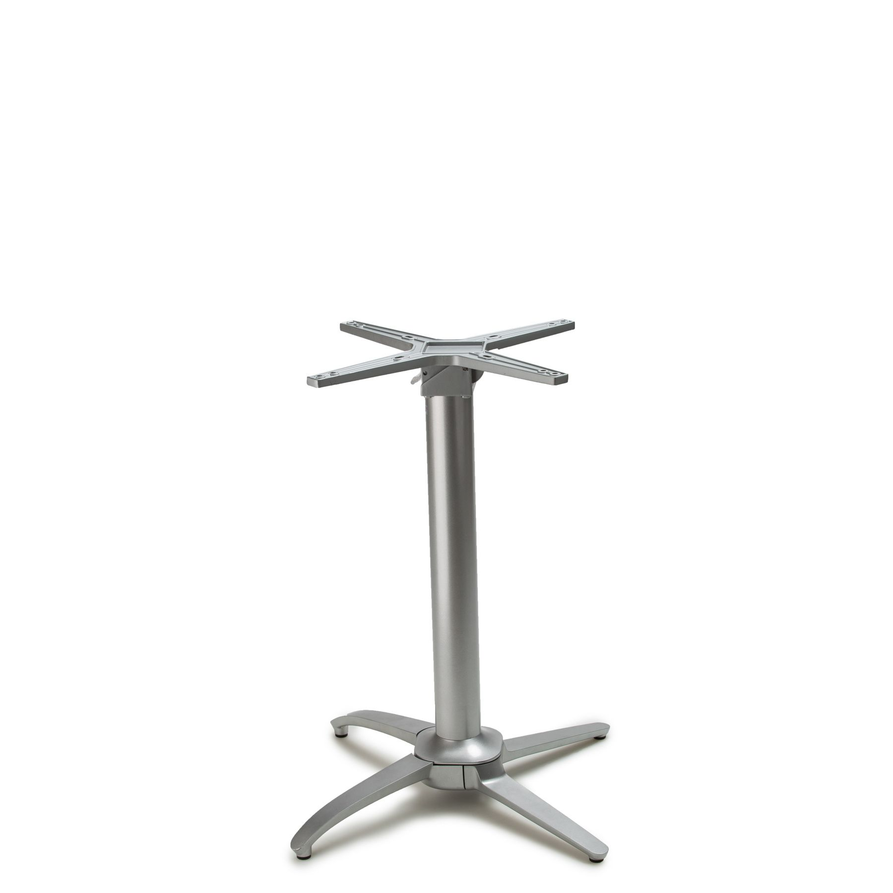 """No-Rock Terrace Metallic Silver - Self Stabilizing Table Base - Dining Height (28"""")"""