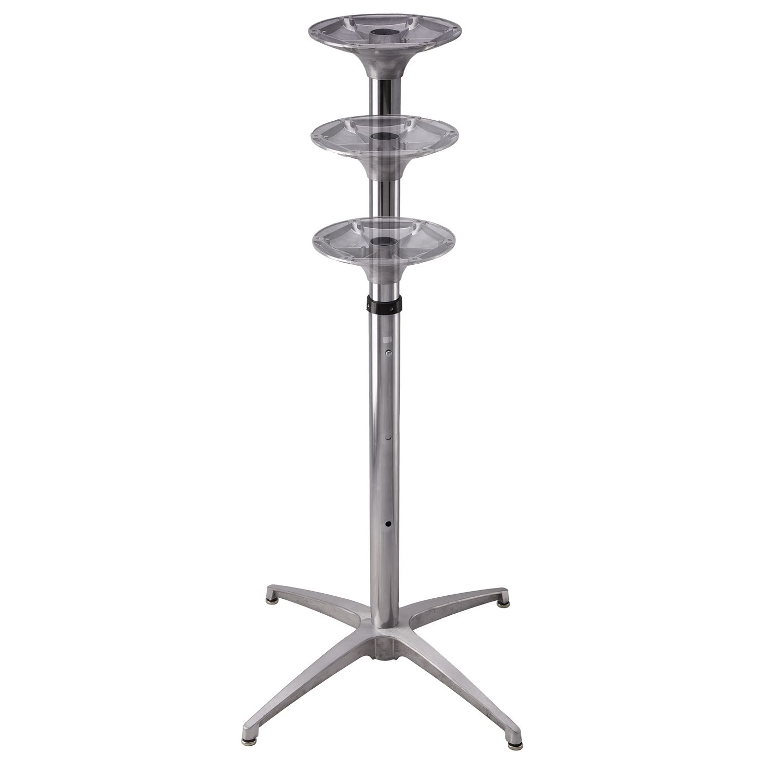 With adjustable height  column