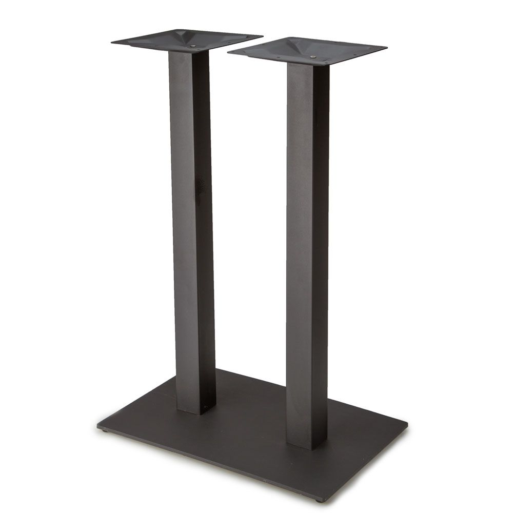 "Plaza-1828 Black Satin Table Base - Bar Height (41"")"