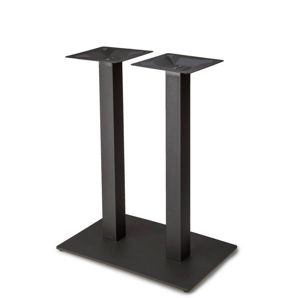 "Plaza-1828 Black Satin Table Base - Counter Height (34 3/4"")"