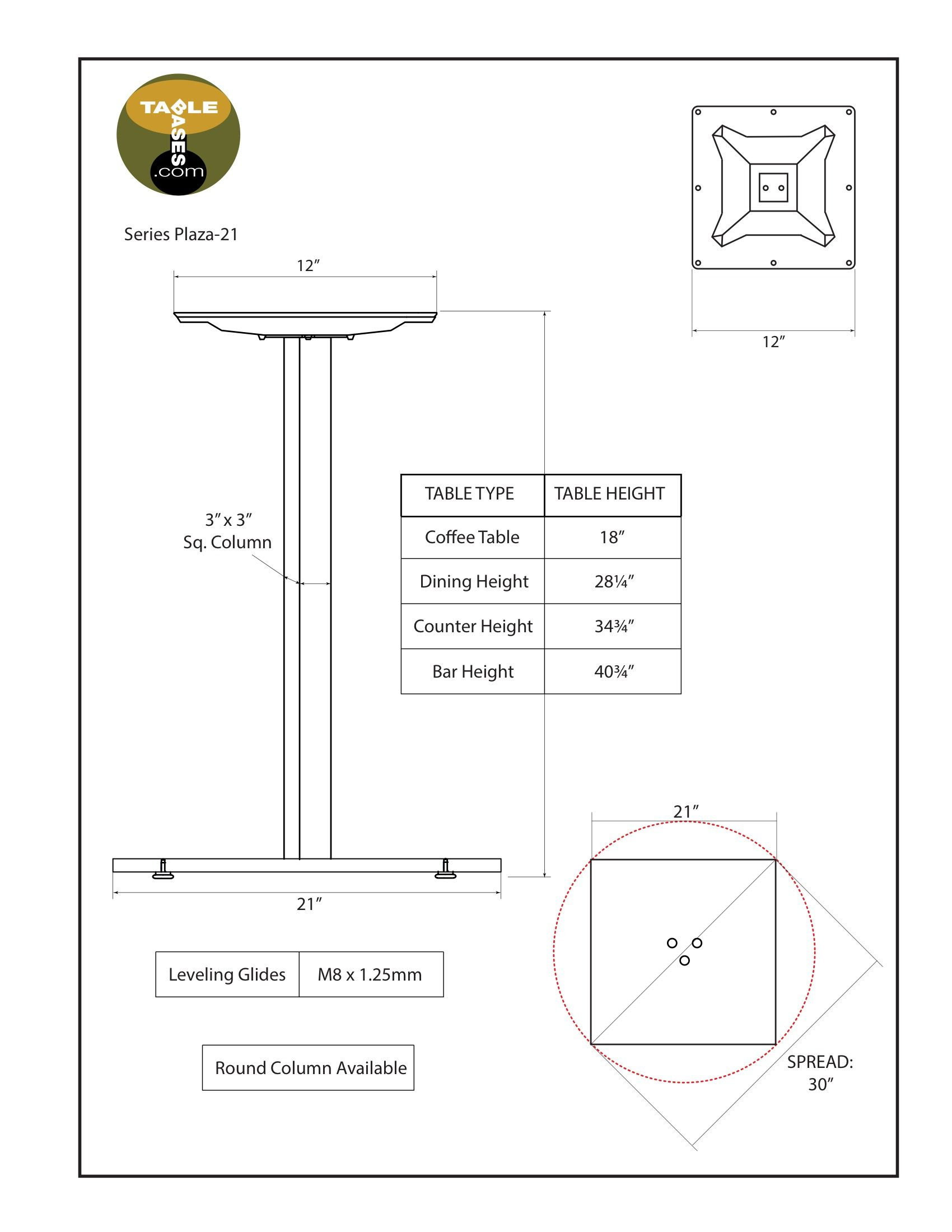 Plaza-21 Specifications
