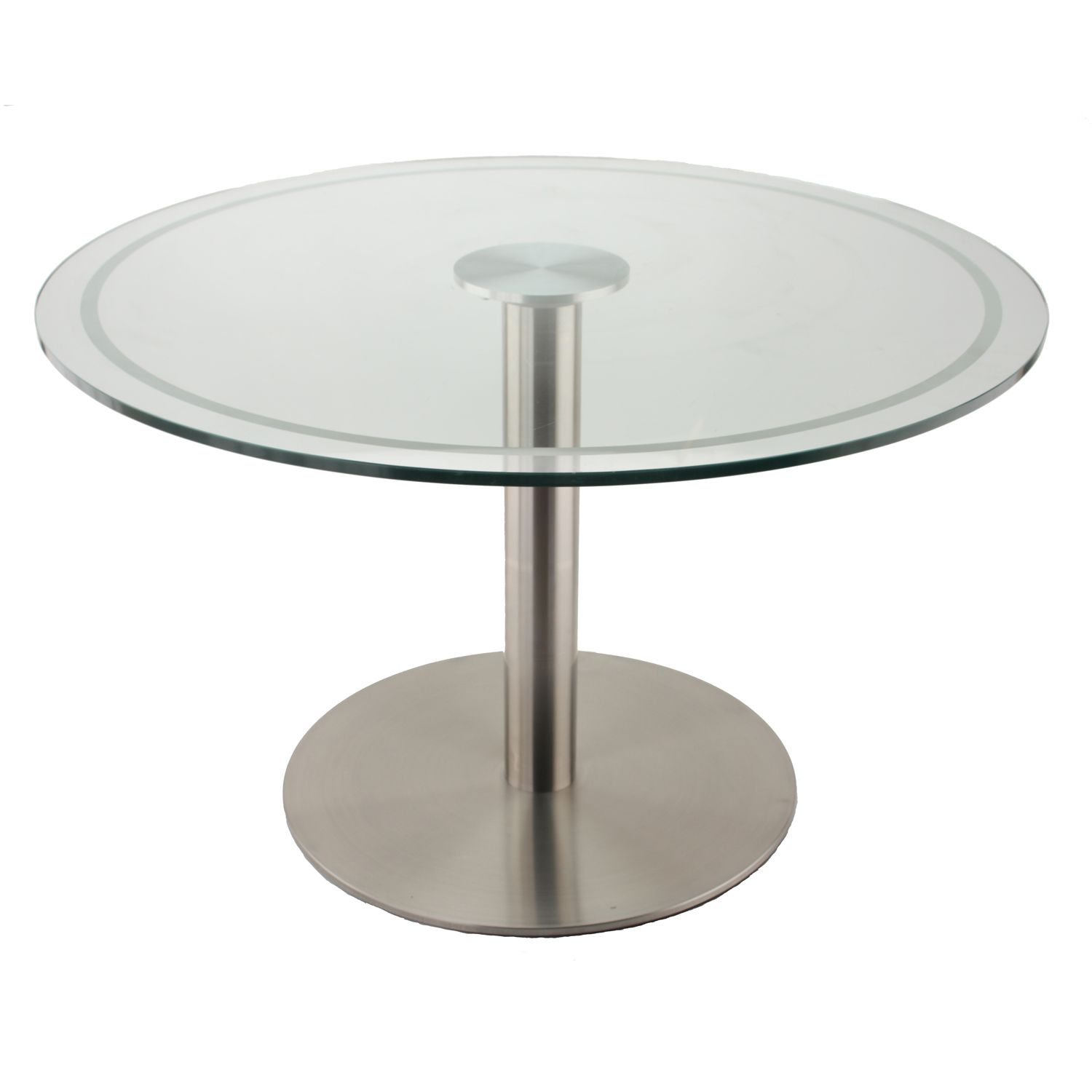 RFL750 Stainless Steel Table Base with Glass Table Top