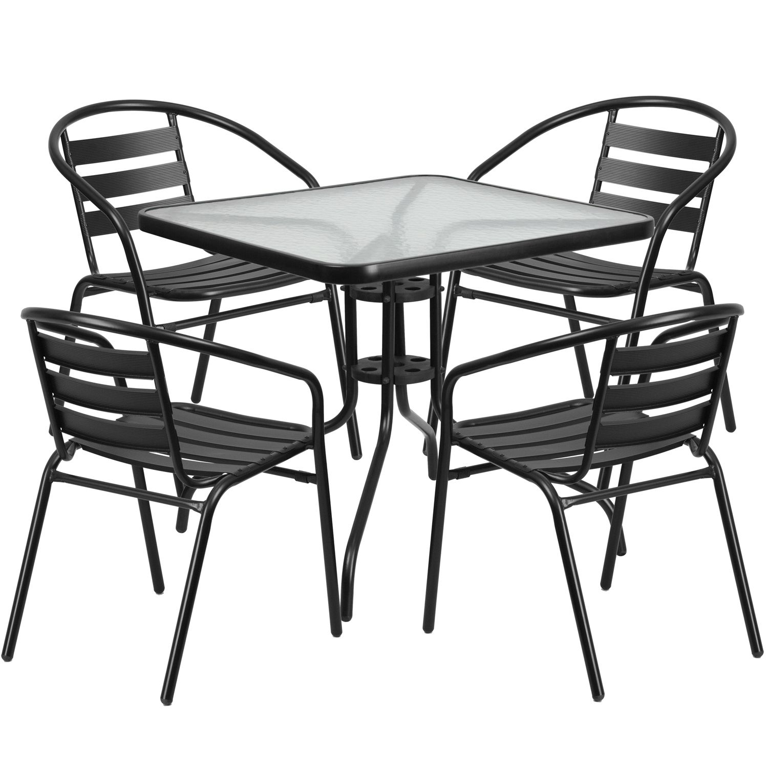 """32"""" Square Glass Patio Table"""