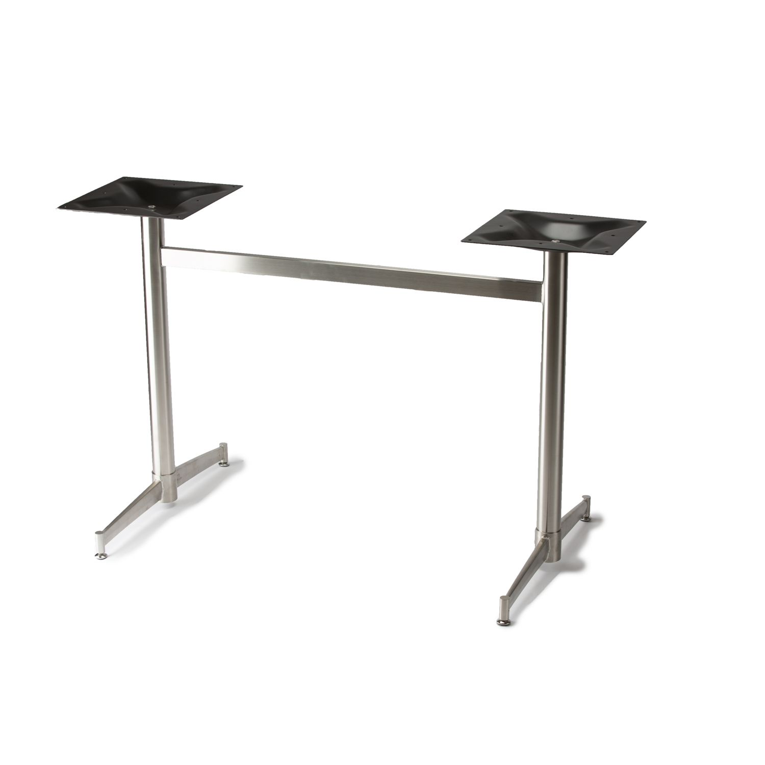 """Turin-2x2 - Stainless Steel Table Base - Dining Height (28 1/4"""")"""