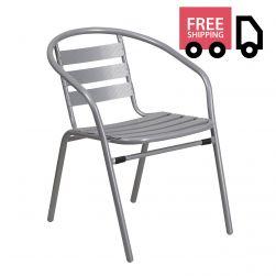 Steel Indoor & Outdoor Slat Back Chair