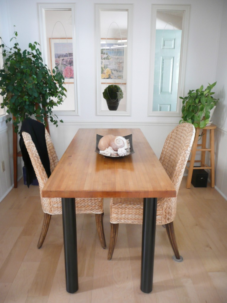 Try our PL3 legs to create a beautiful custom dining table ...